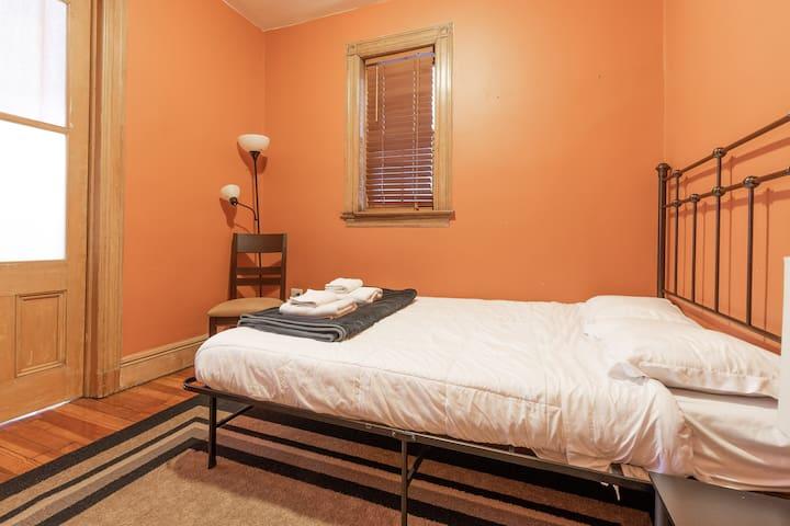 Second bed, queen bed