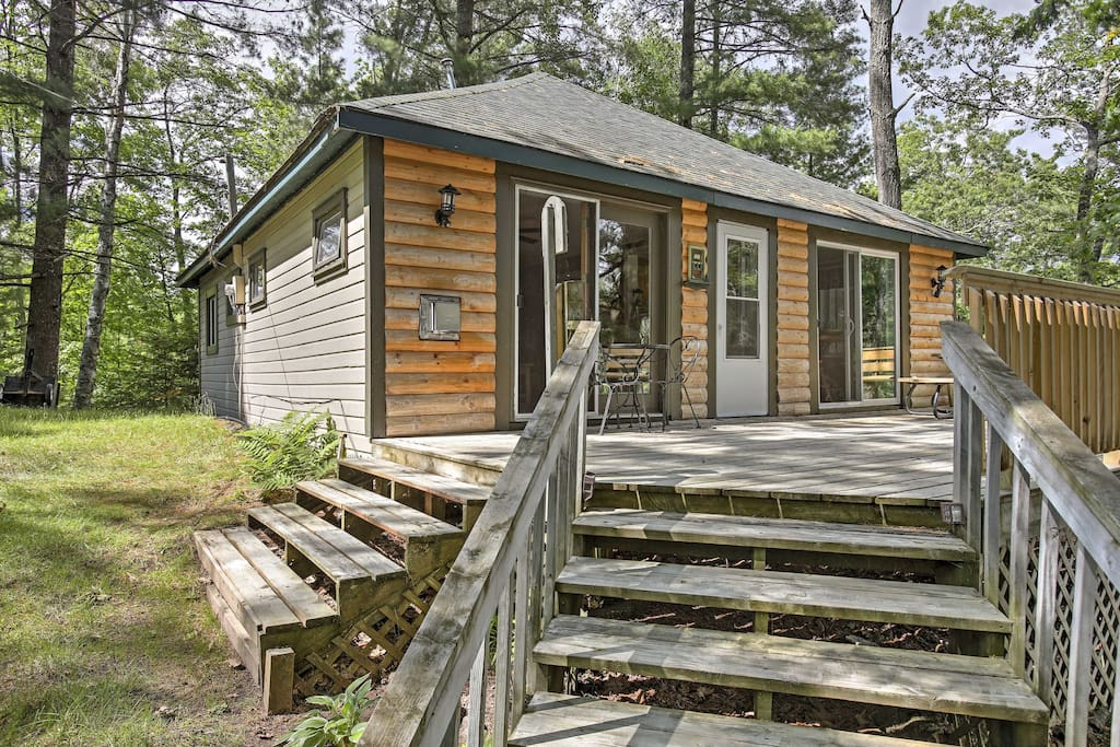 Have the ultimate lake retreat with this 3-bedroom, 1-bathroom vacation rental cabin in Hayward.