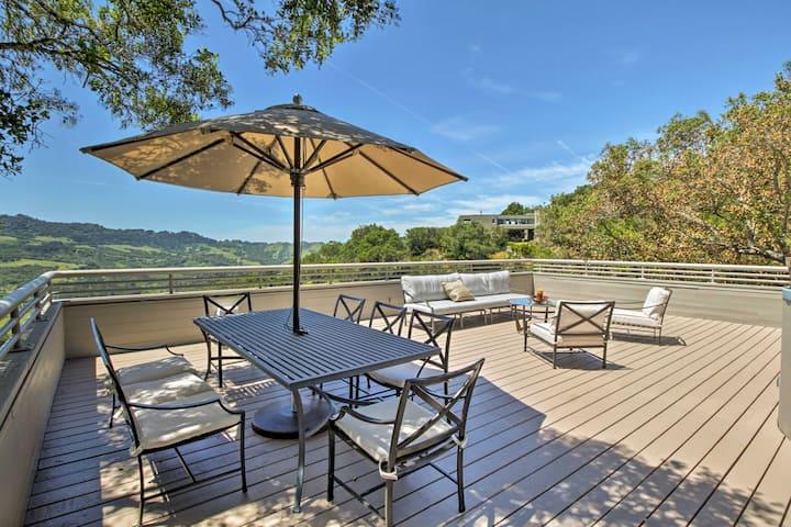 Unique Orinda Home w/ Mtn Views, Deck & Hot Tub!