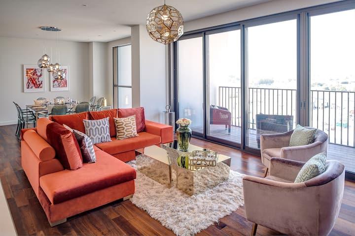 Elegant Four-Bedroom Apartment with balcony