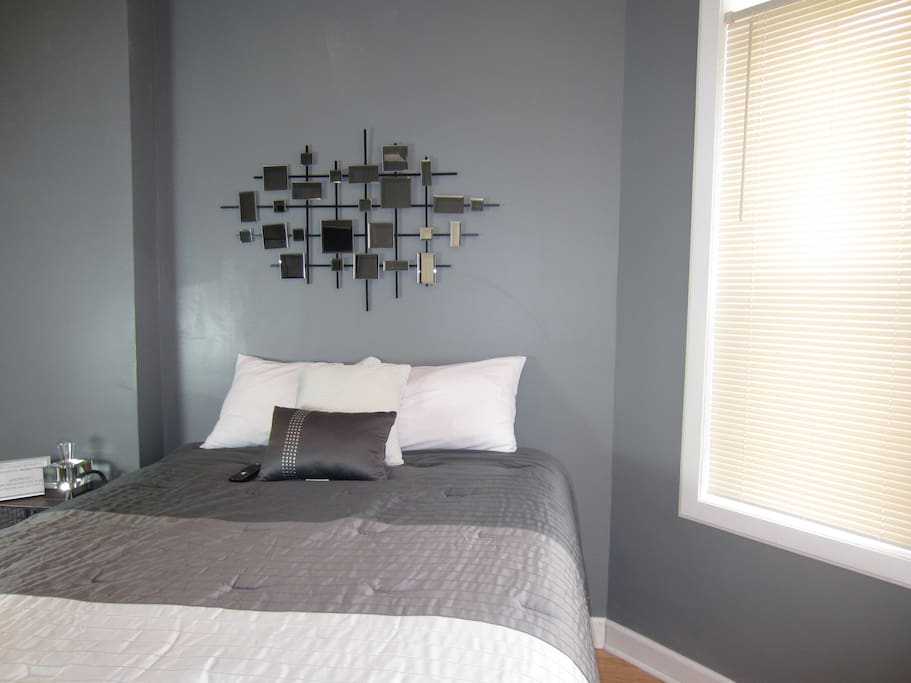 "View of Master bedroom   ~Guest Review ""Newly renovated apartment has a touch of class all it's own!"""