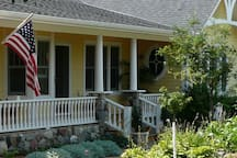 Country setting, cottage style home