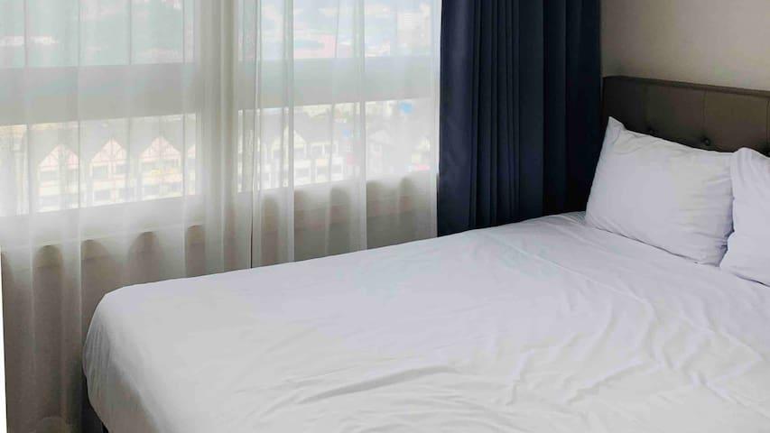 모던 깔끔한 레지던스 호텔 (Modern residence hotel, 퀸 베드 1개)