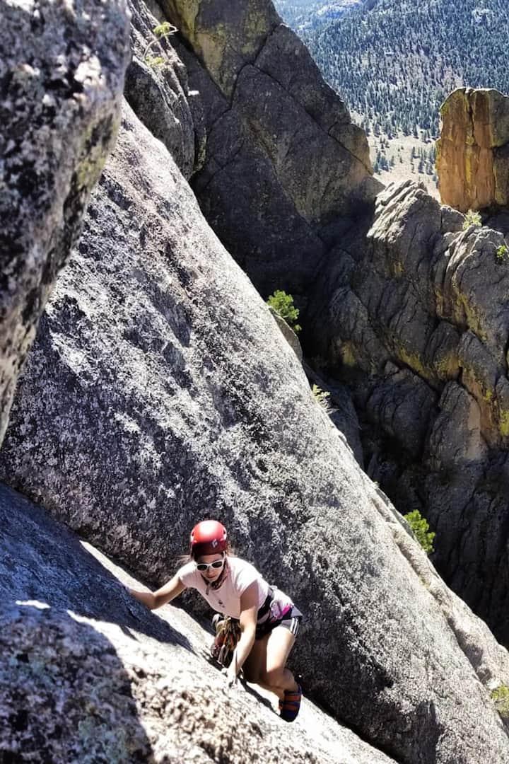 Climbing at Lumpy Ridge.