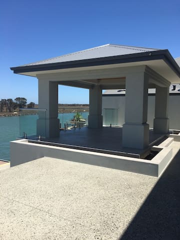 New luxury 2 storey home with private jetty