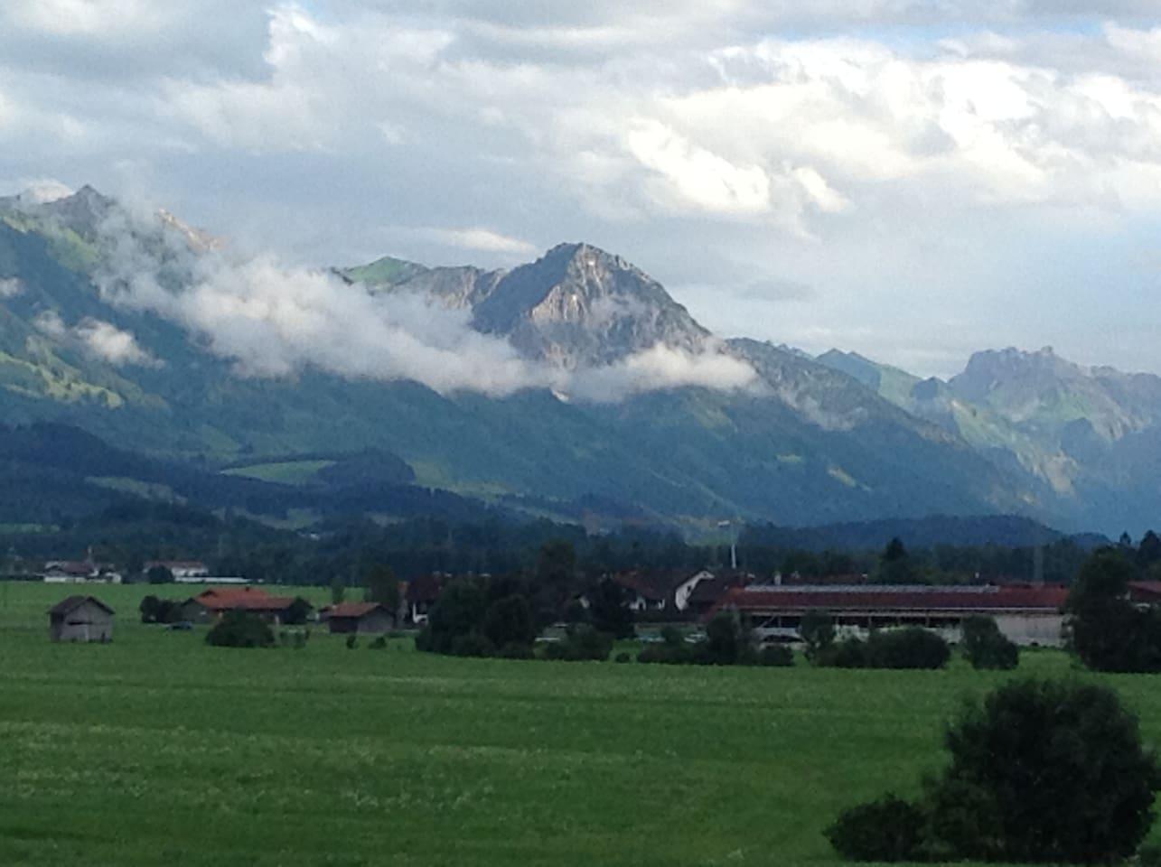 Aussicht südlich der Allgäuer Berge