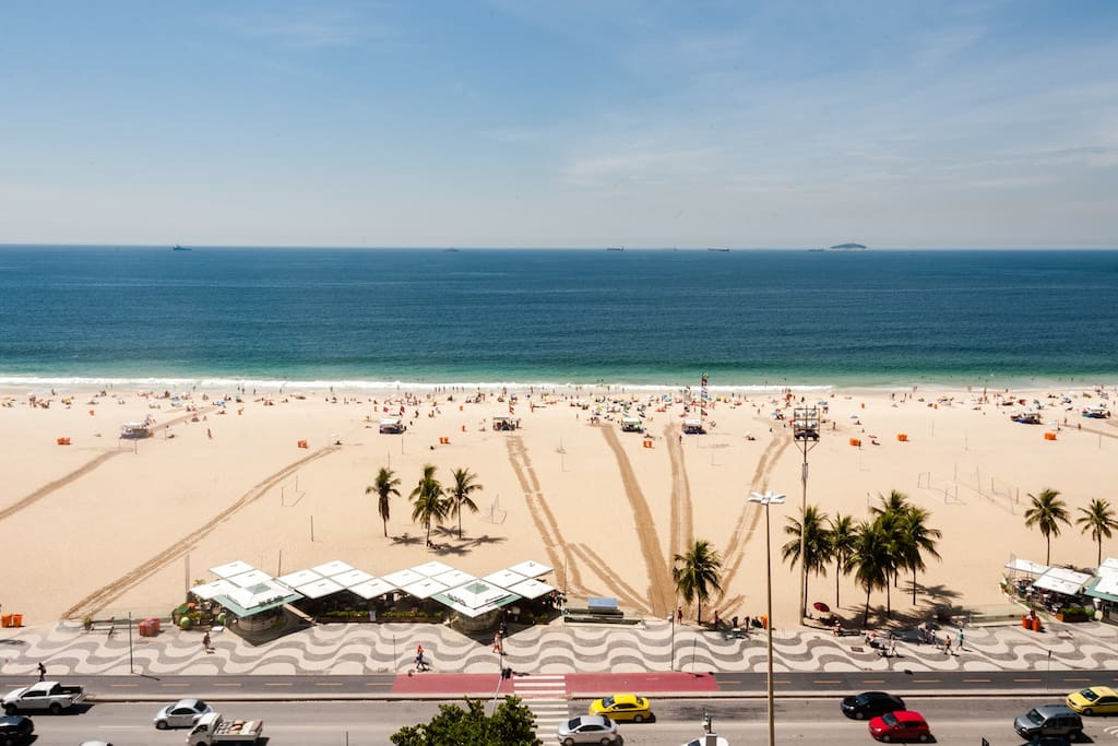 Vista da praia de copacabana/ View of copacabana beach