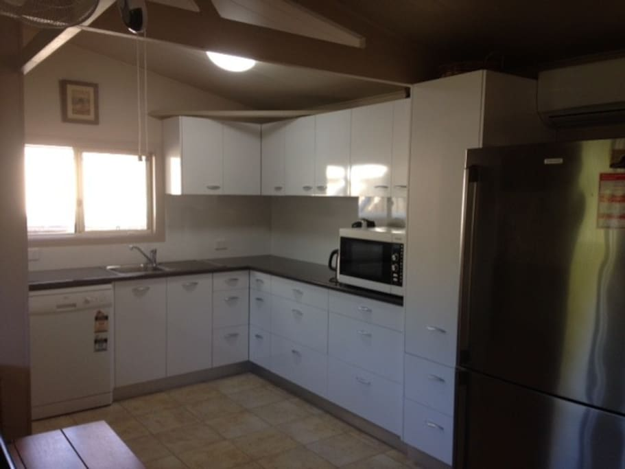 Fully equipped kitchen. Help yourself to a wide range of herbs and spices. Dishwasher and microwave convection oven.