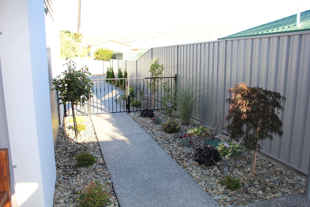Garden Path from Off Street Parking area