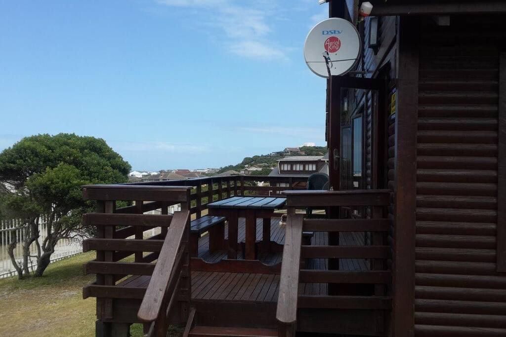 Deck with sea views