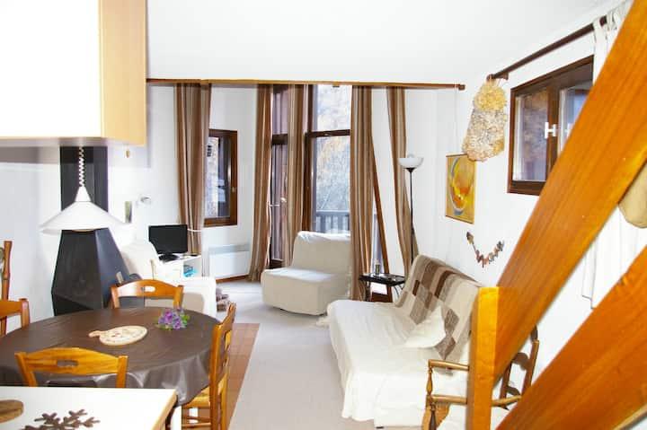 Appartement lumineux avec cheminée
