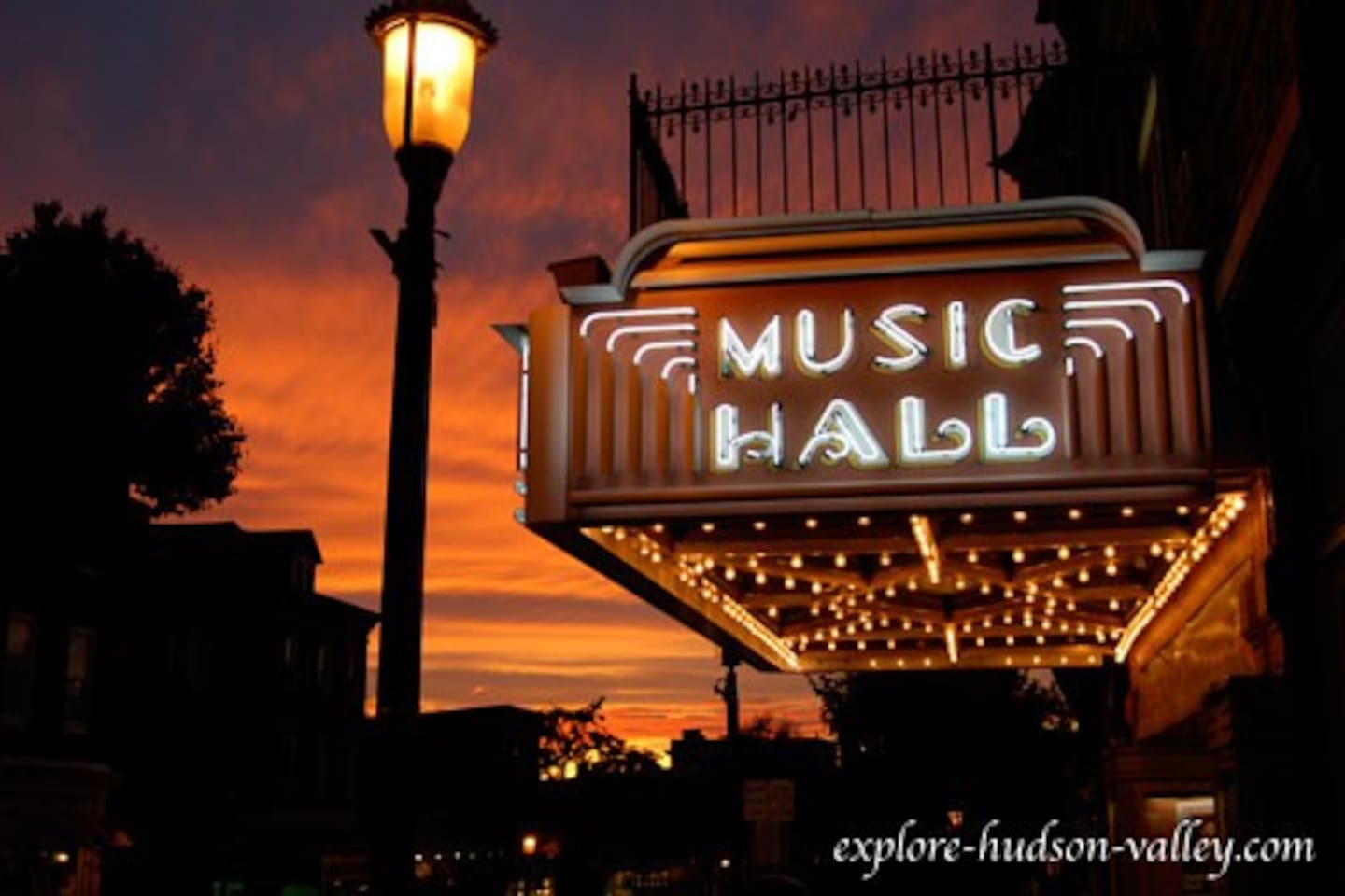 the picturesque Music Hall