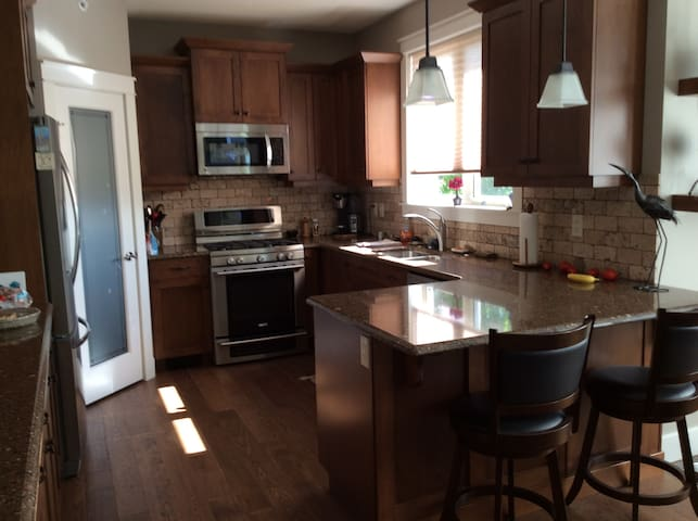 Kitchen, very well equipped with appliances and cooking utensils