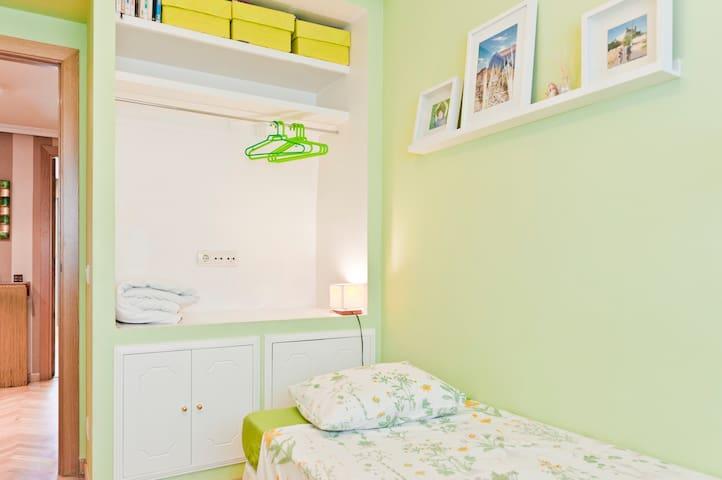 Dormitorio individual.