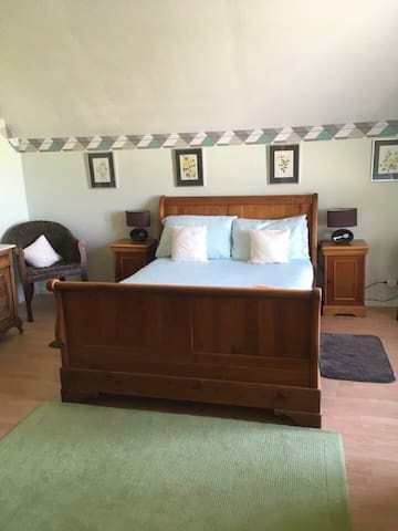 Double bedroom this room is large enough to accommodate a cot or single  bed which can also be provided