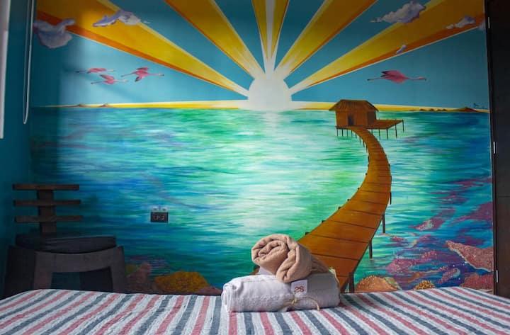 Habitación Doble con baño privado en 82 Hostel
