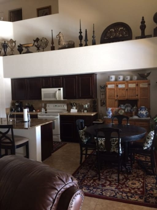 Kitchen and kitchen dining table