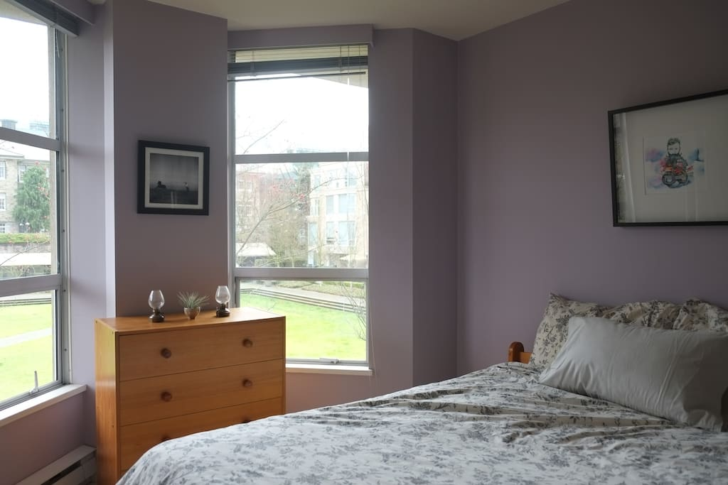 The bedroom has a very comfortable double bed, memory foam topper to insure sound sleeps.