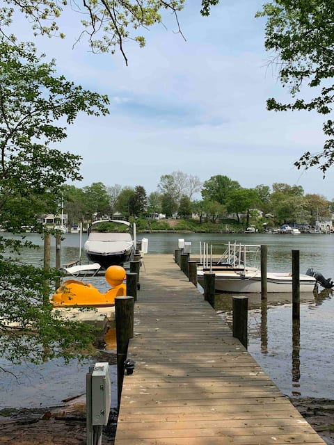 NEW 4 Bedroom Home with Private Pier by Water