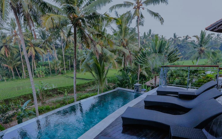 Breathtaking & Peaceful 4-Bedroom Ubud Villa