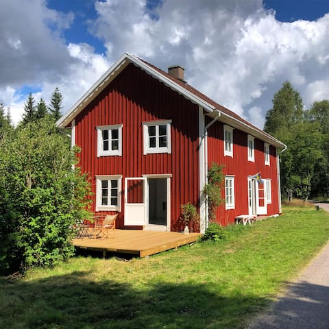 Spacious croft in the Halland forests