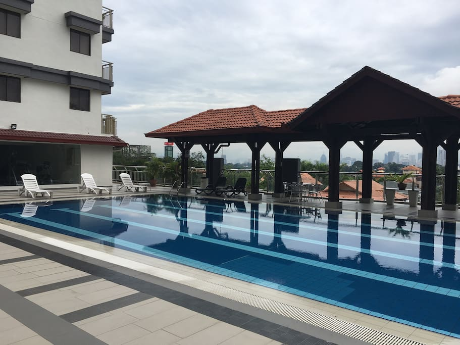 Swimming Pool with panoramic KL city views