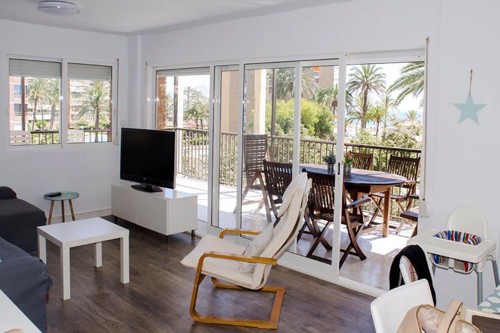 Salon y terraza