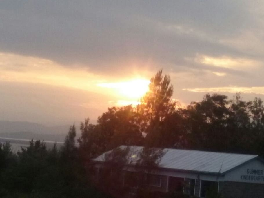Sunset view from the house balcony