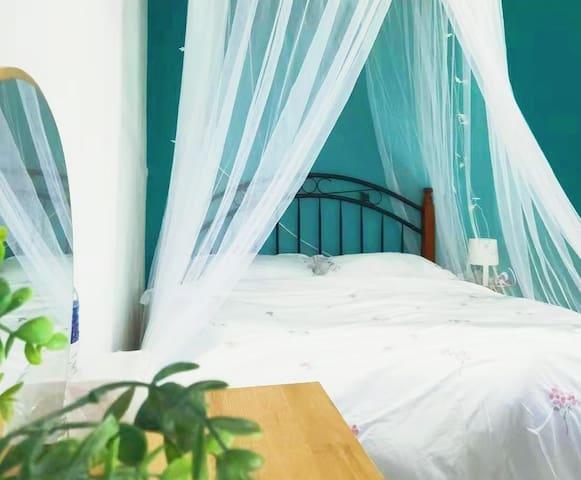 【花境民宿】仙本那浪漫大床房02|花园别墅|阳光沙滩|海鲜烧烤|含早餐