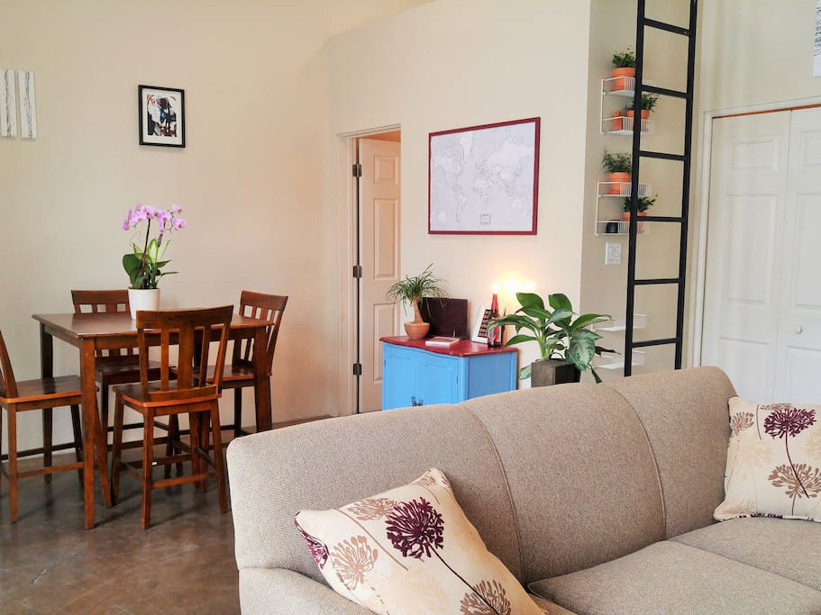 This downtown studio casita is bright and airy!