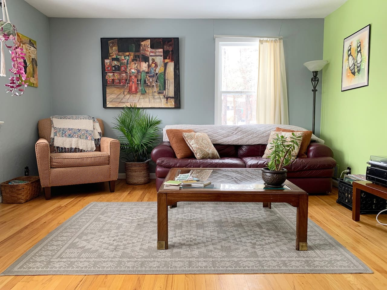 Bright, sunny, and spacious living and dining room