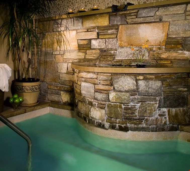 Enjoy the luxurious soaking tub at The Lodge at Vail Square.