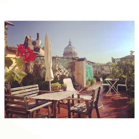 Amazing apart with a very large private terrace - Roma - Apartemen