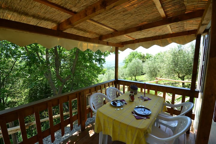 Spectacular views on Tuscan hills close to Pistoia