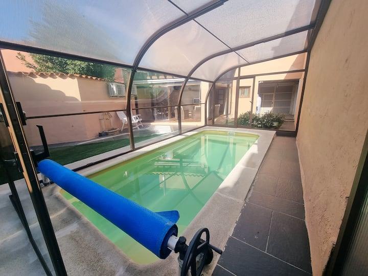 Villa de 3 chambres à Pajares de la Lampreana, avec piscine privée, jardin clos et WiFi