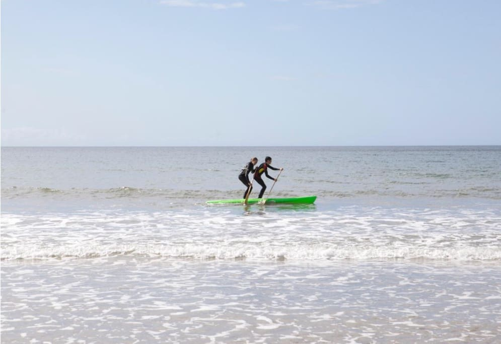 Paddle boards, surfing and swimming