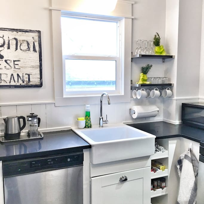 Park-Sumner House; farm-style sink and plenty of room to create.