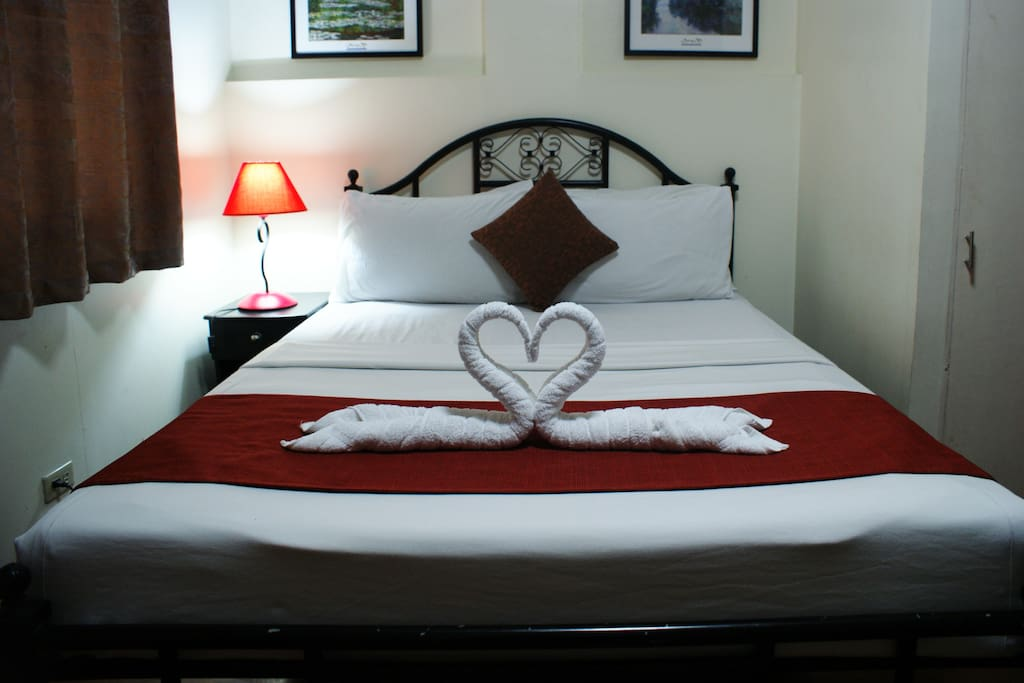 "We put our ""heart"" into making the room perfect for you!"