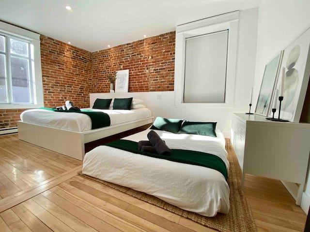 Appartement de designer / 2 chambres