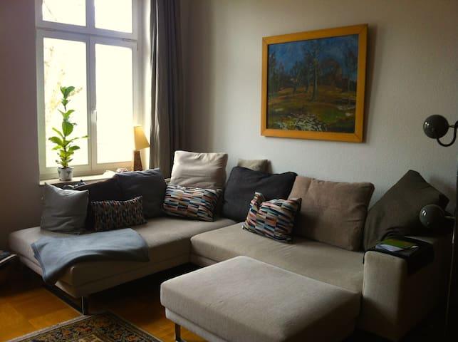 zentrale, große Wohnung mit Balkon - Leipzig - Departamento