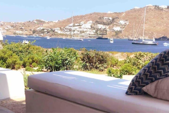Healthy House, Costa Ilios Ornos Sea front