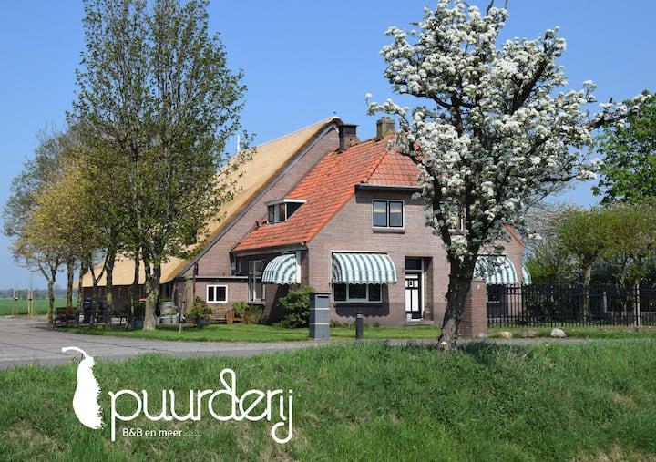 B&B uitzicht over landerijen in Nijeveen/Giethoorn
