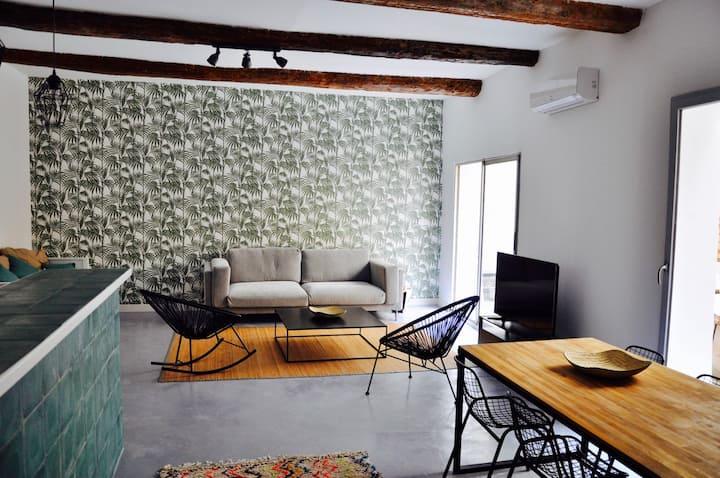 NOUVEAU ! Loft climatisé 80m2 avec Terrasse 20 m2