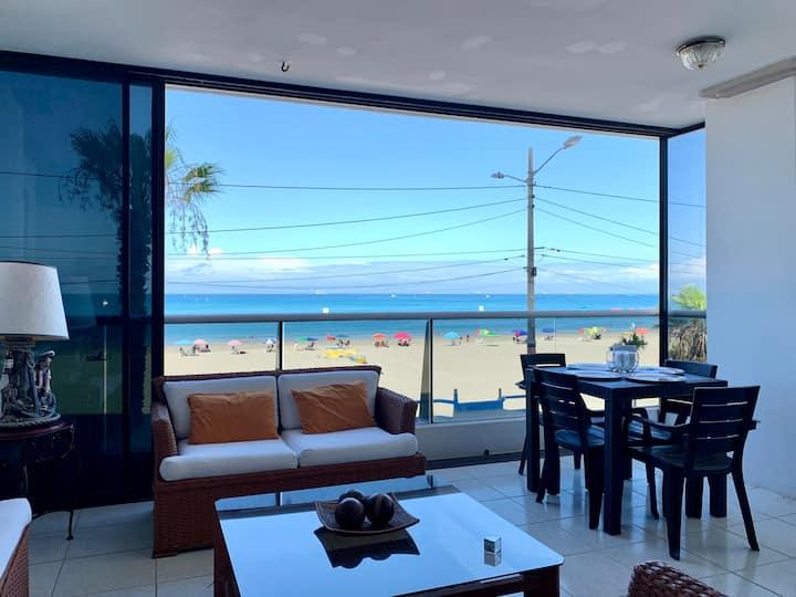 Lindo departamento frente al mar Malecón Chipipe