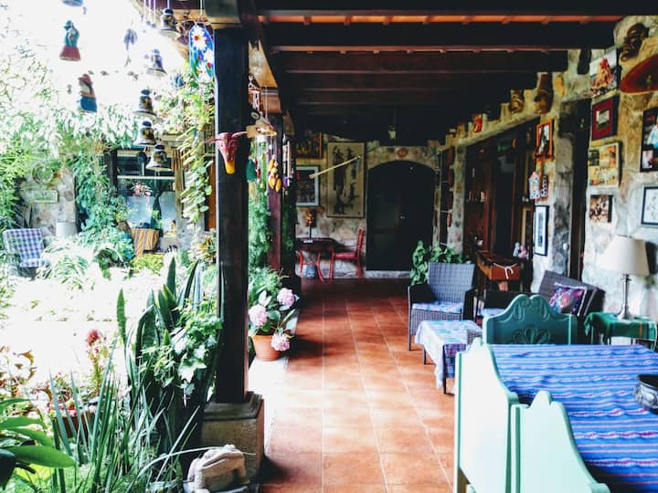 Jade Room | Peaceful Antigua home, garden oasis