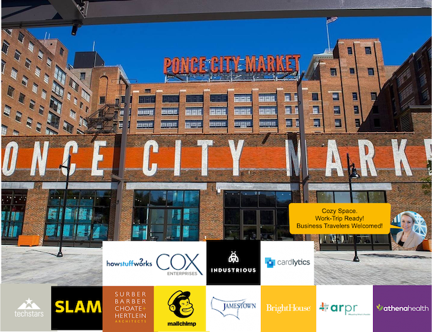 Short walk to Ponce City Market and PCM Roof Top Attractions.