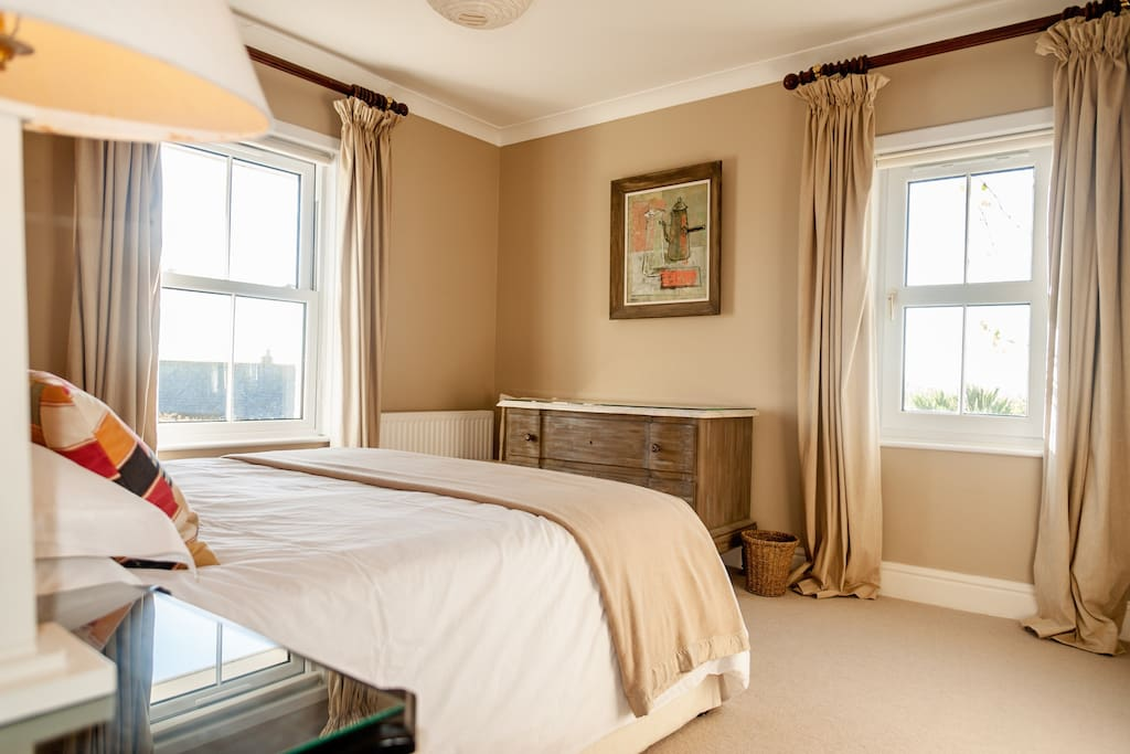 First floor double bedroom with sea views