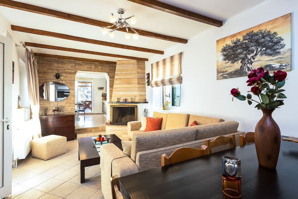 Open plan area with living and dining area