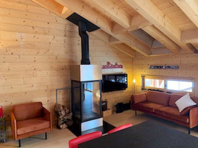 Penthouse alpinchic 120m2 - Crosets - Nature pure
