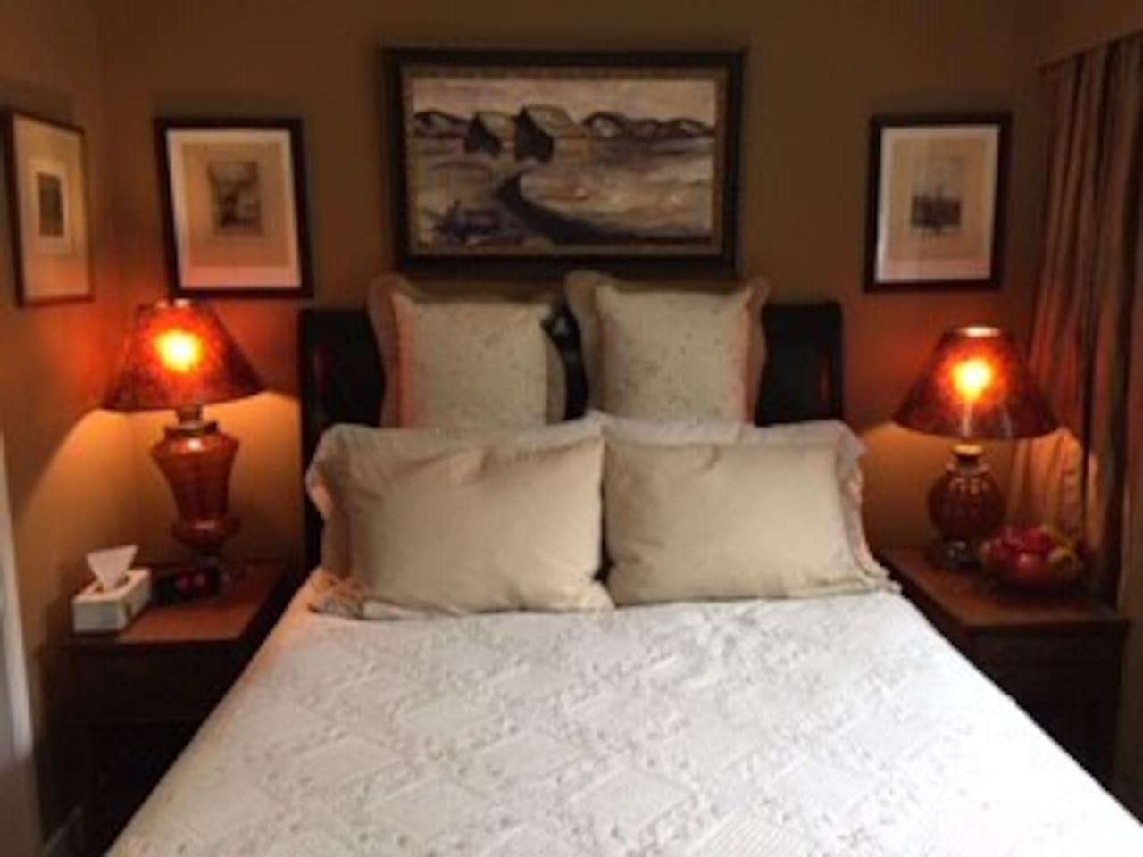 Cozy comfortable bedroom